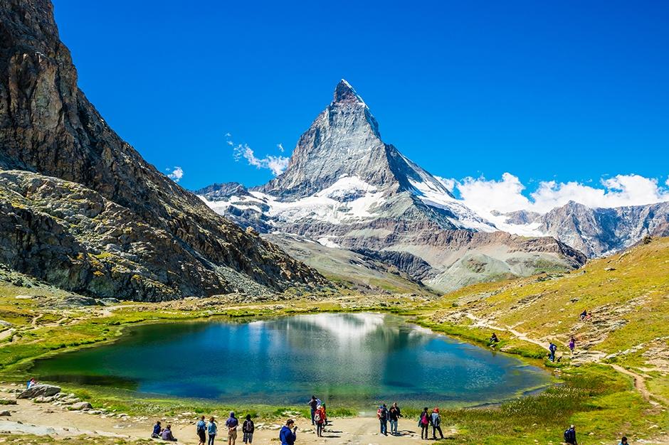 Large Pond by Matterhorn in Switzerland