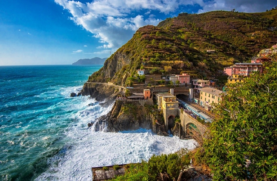 Cinque Terre is as every bit breathtaking as you'd imagine.